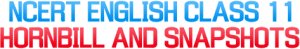 NCERT Solutions For Class 11 English Hornbill and Snapshots