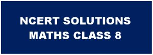 CBSE NCERT Solutions for Class 8 Maths