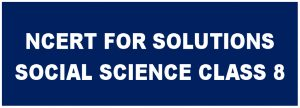 CBSE NCERT Solutions for class 8 Social Science SST